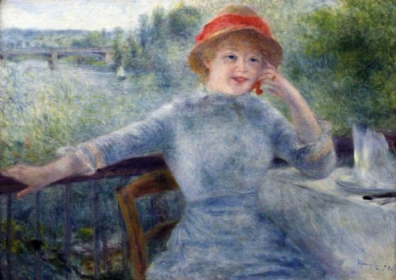 Renoir, Pierre Auguste: Portrait of Alphonsine Fournaise. Fine Art Print/Poster. Sizes: A4/A3/A2/A1 (004286)